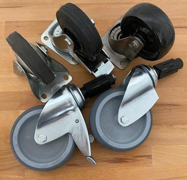 Räder und Rollen für Edelstahlmöbel